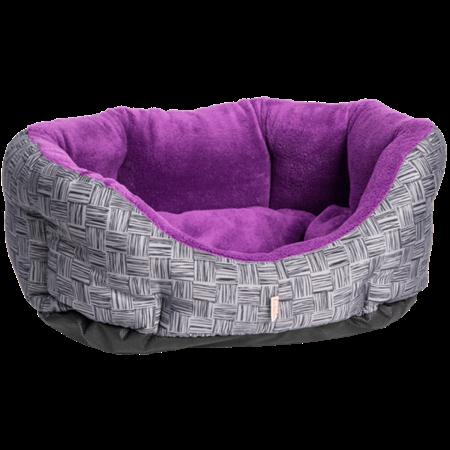 Šedo fialový 60 cm pelíšky pro psy pelechy textilní boudy