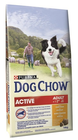 Purina Dog Chow Active Chicken 14 kg - Granule pro psy