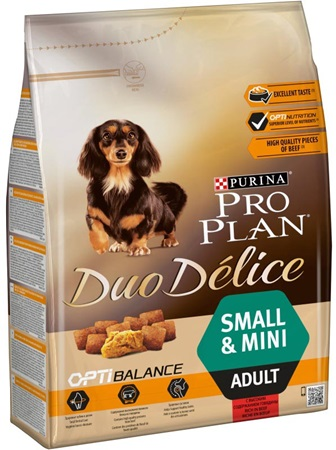PRO PLAN Dog Adult Duo Délice Small Beef 2,5 kg - Granule pro psy