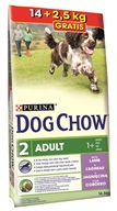 Purina Dog Chow Adult Lamb+Rice 14 + 2,5 kg