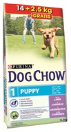 Purina Dog Chow Puppy Lamb+Rice 14 + 2,5 kg