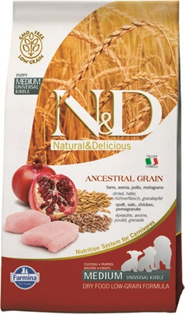 N&D Low Grain Dog Puppy Chicken & Pomegranate 12 kg - Granule pro psy