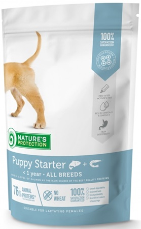 Nature´s Protection Dog Dry Starter 500 g - Granule pro psy
