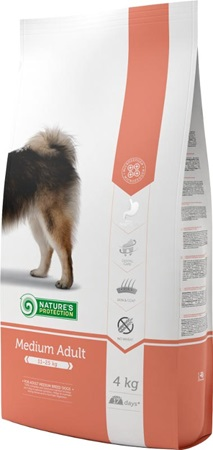 Nature's Protection Dog Dry Adult Medium 4 kg - Granule pro psy