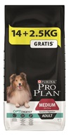 PRO PLAN Dog Adult Medium Sens.Digestion 14+2,5 kg zdarma