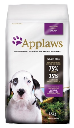 Applaws Dog Dry Puppy Large Breed Chicken 7,5 kg - Granule pro psy