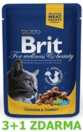 Brit Premium Cat kaps. - Chicken & Turkey 100 g - 3+1 ZDARMA