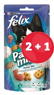 2+1 ZDARMA Felix snack cat -Party Mix Ocean Mix 60 g