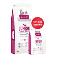 Brit Care Dog Junior Large Breed Lamb & Rice NOVÝ 12+3 kg ZDARMA - Granule pro psy Brit, Brit Care a Brit Premium