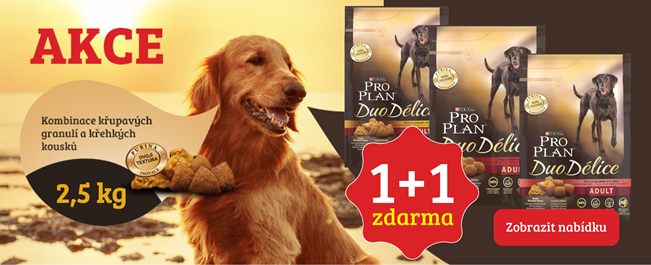 akce 1+1 zdarma purina pro plan duo delice