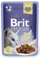 Brit Premium Cat kaps. Delicate Fillets in Jelly with Beef 85 g - Konzervy pro kočky