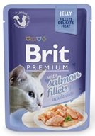 Brit Premium Cat kaps. Delicate Fillets in Jelly with Salmon 85 g