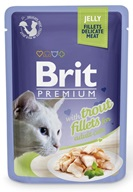 Brit Premium Cat kaps. Delicate Fillets in Jelly with Trout 85 g - Konzervy pro kočky