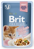 Brit Premium Cat kaps. Delicate Fillets in Gravy with Chicken for Kitten 85 g - Kapsičky pro kočky