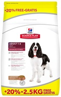 Hill's Canine Adult Lamb+Rice 12 kg + 2,5 kg zdarma