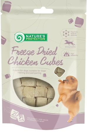 Nature's Protection Dog snack Freez Dried Chicken 20 g - Pamlsky pro psy