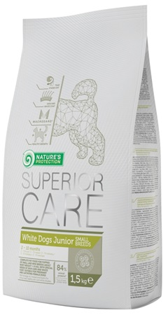 Nature's Protection Dog Dry Superior Junior White Small breed 1,5 kg - Granule pro psy