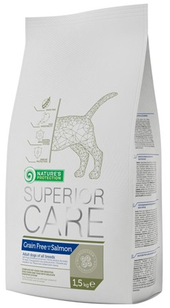 Nature's Protection Superior Grain Free Salmon 1,5 kg - Granule pro psy