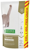 Nature's Protection Cat Dry Neutered/Sterilised 400 g + 400 g - Granule pro kočky Nature's Protection