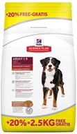 Hill's Canine Adult Lamb+Rice Large Breed 12 kg + 2,5 kg zdarma - Granule pro psy