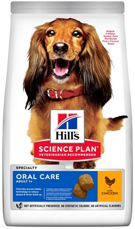 Hill's Science Plan Canine Adult Oral Care Medium Chicken 12 kg NOVÝ - Granule pro psy