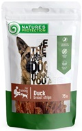 Nature's Protection Dog Snack kachní prsa 75 g - Sušiny