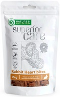 Nature's Protection Superior Care Dog Snack králičí srdce 75 g - Sušiny