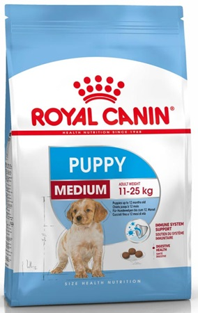 Royal Canin - Canine Medium Junior 4 kg - Granule pro psy