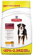 Hill's Canine Adult Large Breed chicken 12 kg + 2,5 kg zdarma