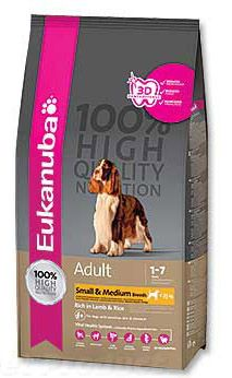 Eukanuba Adult Small & Medium Breed Lamb & Rice 2,5 kg - Granule pro psy