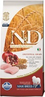 N&D Low Grain Dog Adult Maxi Chicken & Pom. 12 kg - Granule pro psy