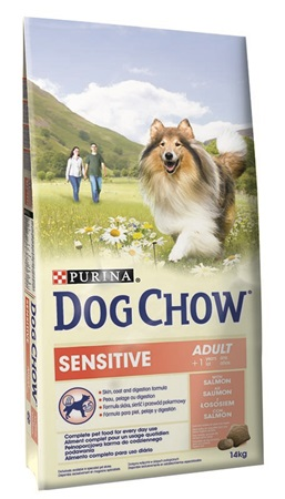 Purina Dog Chow Adult Sensitive - Salmon+Rice 14 kg - Granule pro psy