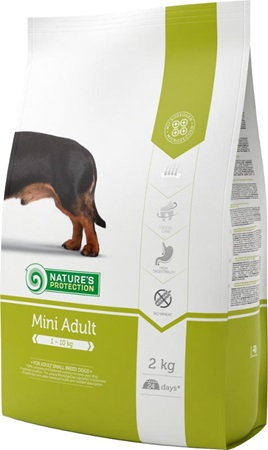 Nature´s Protection Dog Dry Adult Mini 2 kg - Granule pro psy