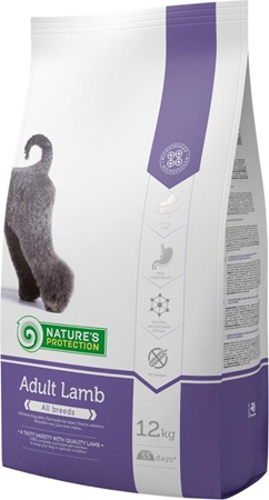 Nature's Protection Adult Lamb 12 kg - Granule pro psy