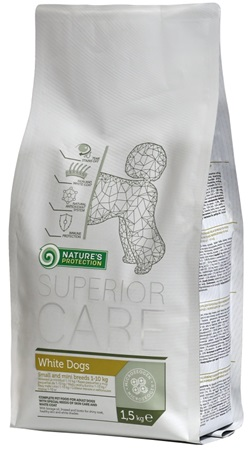 Nature's Protection Dog Dry Superior Adult White 1,5 kg - Granule pro psy