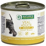 Nature's Protection konzerva Small Veal & Duck 200 g