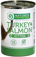 Nature's Protection konzerva Kitten Turkey & Salmon 400 g