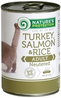 Nature's Protection konzerva Neutered Turkey & Salmon 400 g
