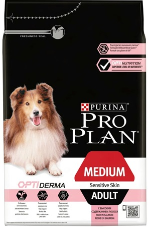 PRO PLAN Dog Adult Medium Sensitive Skin 3 kg - Granule pro psy