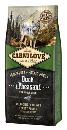 Carnilove Dog Adult Duck & Pheasant Grain Free 12 kg - Granule pro psy