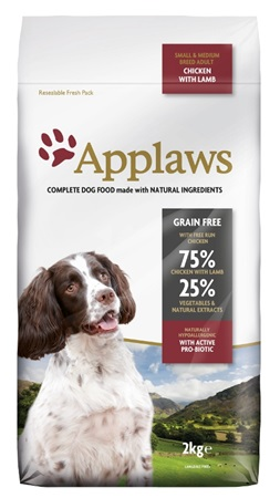 Applaws Dog Dry Adult S&M Breed Chicken & Lamb 2 kg - Granule pro psy