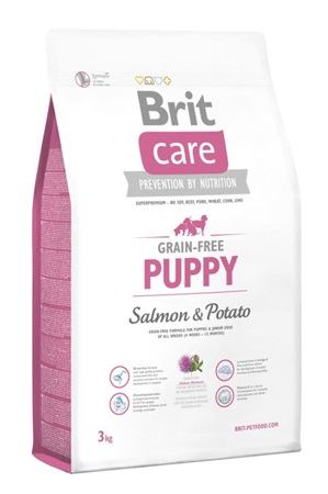 Brit Care Grain Free Dog Puppy Salmon & Potato 3 kg - Granule pro psy
