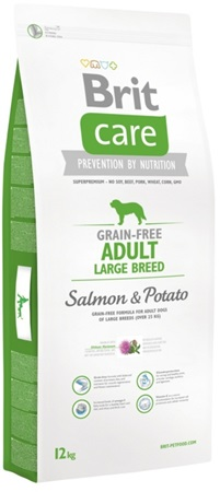 Brit Care Grain Free Adult Large Breed Salmon & Potato 12 kg - Granule pro psy