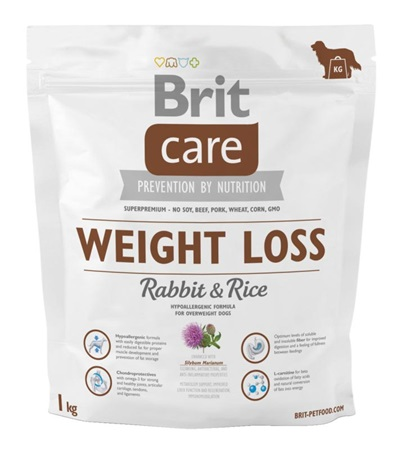 Brit Care Dog Weight Loss Rabbit & Rice 1 kg - Granule pro psy