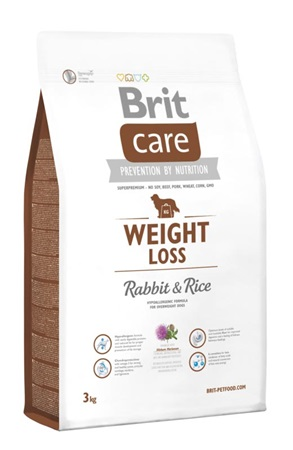 Brit Care Dog Weight Loss Rabbit & Rice 3 kg - Granule pro psy
