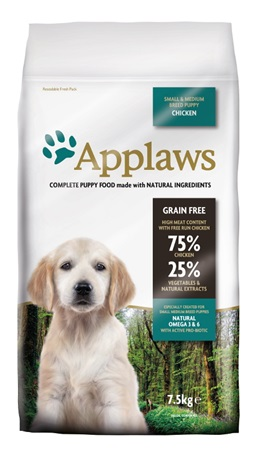 Applaws Puppy S&M Breed Chicken 7,5 kg - Granule pro psy