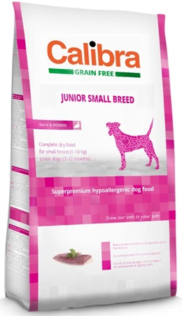 Calibra Grain Free Junior Small Breed Duck 7 kg - Granule pro psy