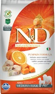 N&D Grain Free Dog Adult M/L Pumpkin Codfish & Orange 2,5 kg