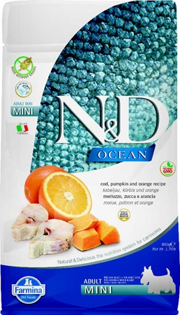 N&D Grain Free Adult Mini Pumpkin Codfish & Orange 800 g - Granule pro psy