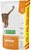 Nature´s Protection Cat Dry Indoor 400 g + 400 g